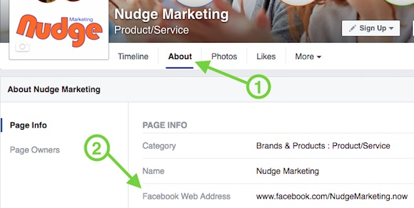 Change Facebook Web Address
