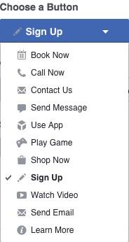 Facebook Button Options