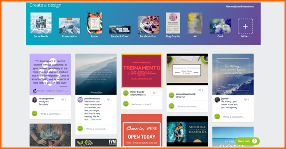 Canva page