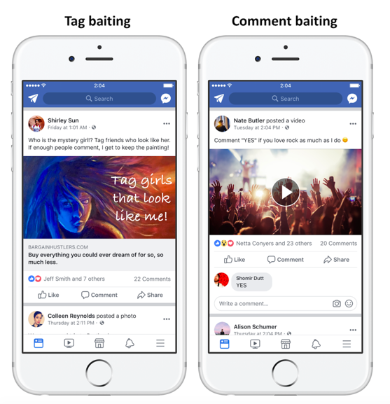 Facebook Tag Comment Engagement Baiting