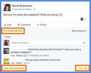Facebook random question example