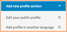 LinkedIn New Profile Section